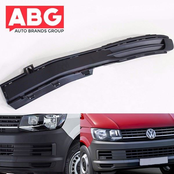 VW Transporter T7 2015 Onwards Left Lower Front Bumper Trim Grill No Fog Hole