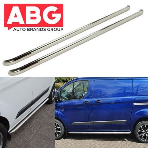 Ford Transit Side Bars Tourneo Custom Sportline SWB Side Steps Protection Bars
