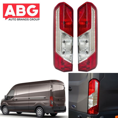 Ford Transit Mk8 2014 On Rear Tail Light Lamp Lens - Pair