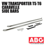 For VW Transporter Caravelle T5 T6 LWB Sportline Side Step Bars 2003 On OE Style