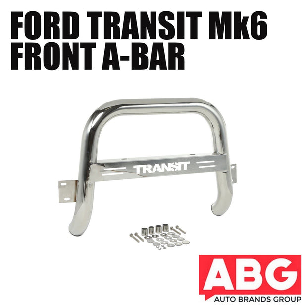Ford Transit Mk6 2000 to 2006 Front A-Bar Bullbar with Logo Bolt-On 3""