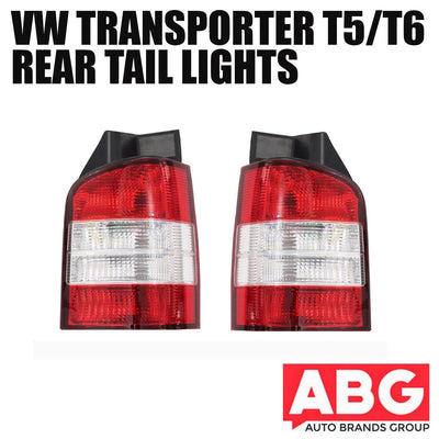 VW Transporter T5 T6 Rear Back Tail Light Lens Lamp Pair N/S O/S Caravelle 03-10