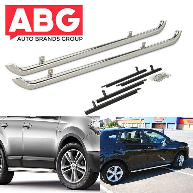 For Nissan Qashqai J10 J10E 2006 to 2013 Side Bars Steps Protection Bar OE Style