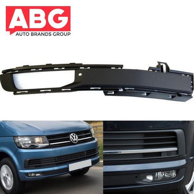VW Transporter T7 2015 Onwards Front Bumper Fog Grille Cover with Fog Hole Right Side