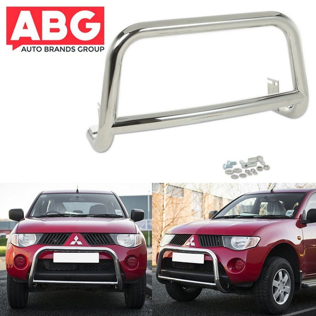 Mitsubishi L200 2005 On Front Bull Bar A-Bar Chrome Bullbar Stainless Steel