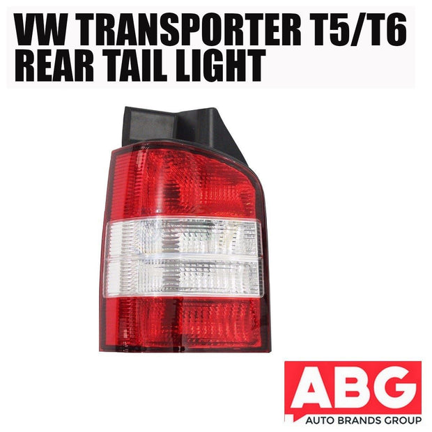 VW Transporter T6 2003 - 2010 Rear Back Tail Light Lens Lamp Left N/S Red /Clear