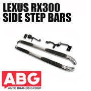 For Lexus RX300 1998 to 2003 Side Bars Steps Polished S/ Steel Protection Bar