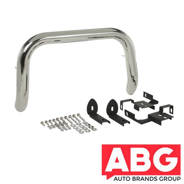 Toyota Hilux Mk7 2005-2015 Front A-Bar Nudge Bull Bar Polished S/ Steel 76mm