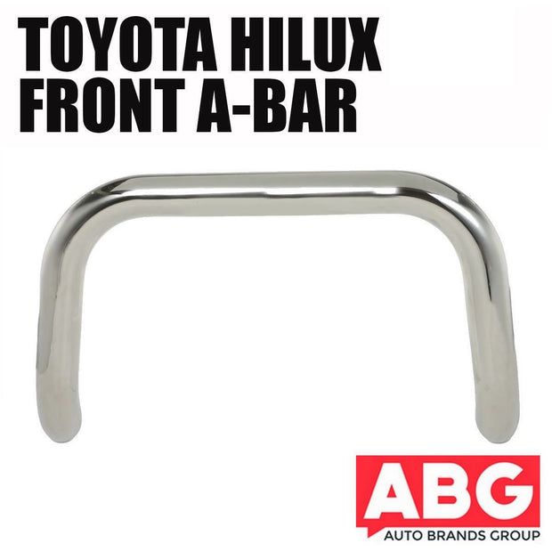 For Toyota Hilux Mk7 2005-2015 Front A-Bar Nudge Bull Bar Polished S/ Steel 76mm