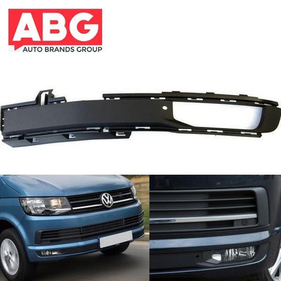 VW Transporter T6 2015 Onwards Front Bumper Fog Grille Cover with Fog Hole Left Side