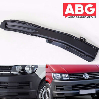 VW Transporter T7 2015 Onwards Right Lower Front Bumper Trim Grill No Fog Hole