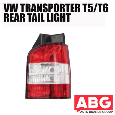 VW Transporter T5 2003 - 2010 Rear Back Tail Light Lens Lamp Right O/S Red Clear