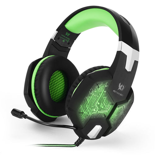 casque gaming game esport jeux vidéo headphone vert green