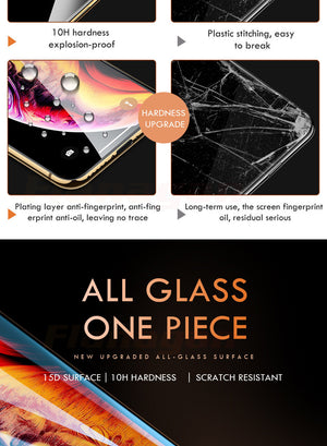 15D Protective Glass on the For iPhone 6 6s 7 8 plus XR X XS