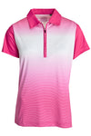 Ladies Sublimated Colourblock Striped Golfer