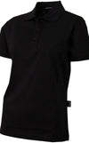 Ladies Black Mercerized Golfer