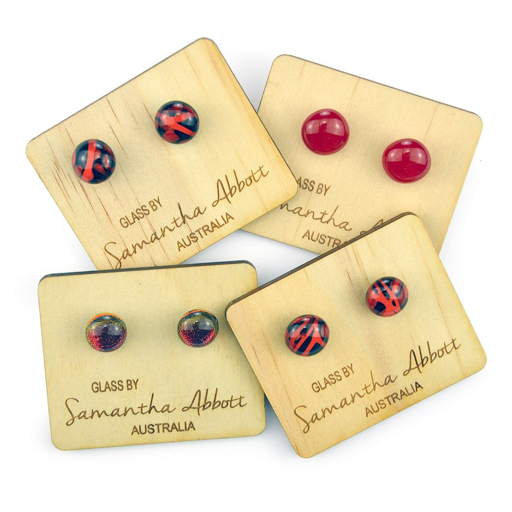 Samantha Abbott Glass Earrings - Red