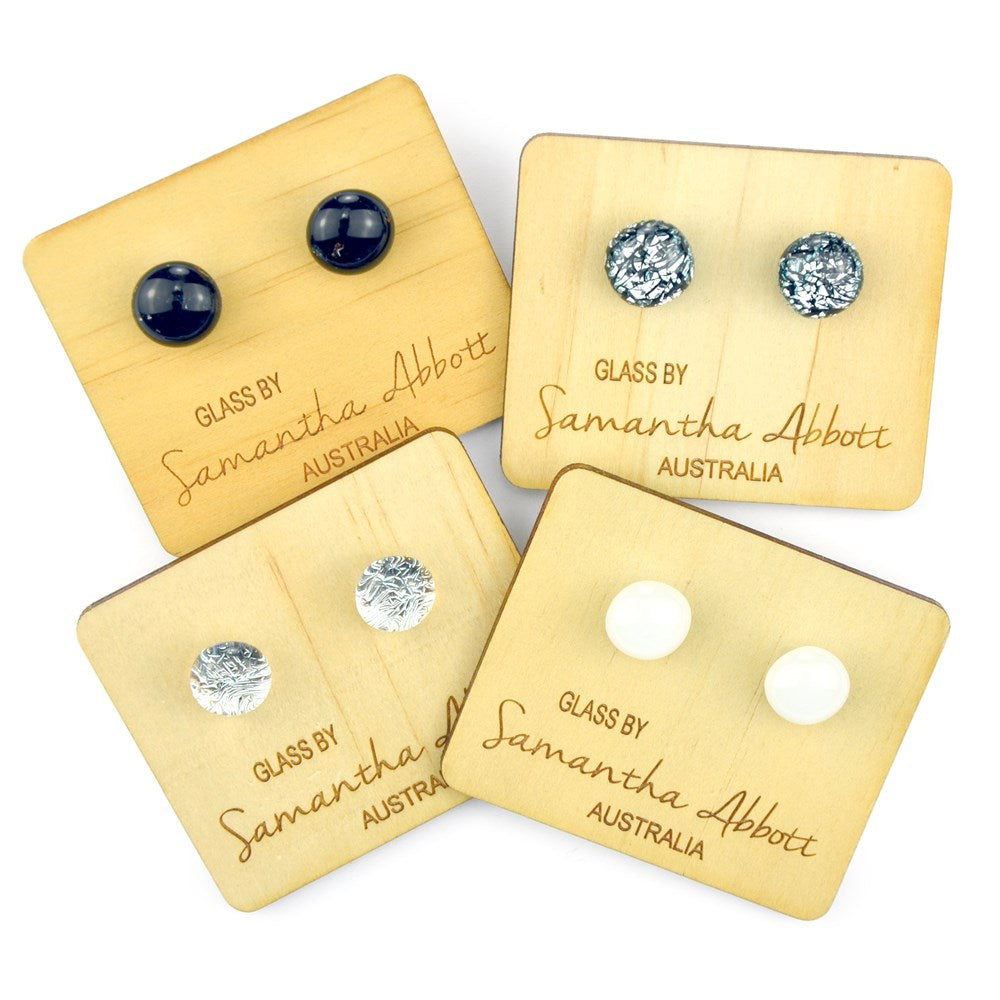 Samantha Abbott Glass Earrings - Silver