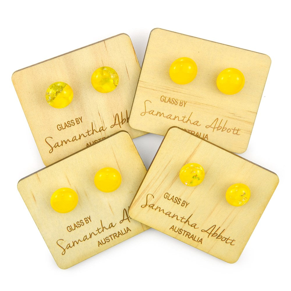 Samantha Abbott Glass Earrings - Yellow