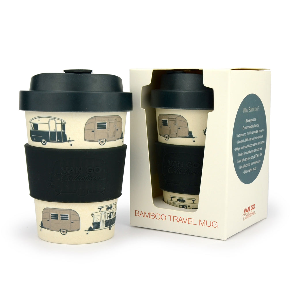 Bamboo Travel Mug | 300ml | Van Go Collections 'Starry Nights' Silver