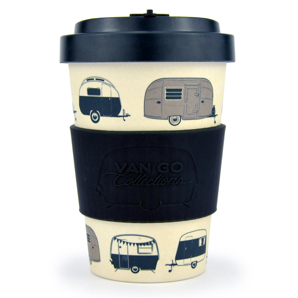 Bamboo Travel Mug | 400ml | Van Go Collections 'Starry Nights' Silver