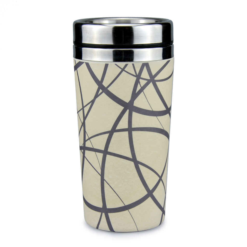 Bamboo Travel Mug | Go Bamboo | Circles | 450ml