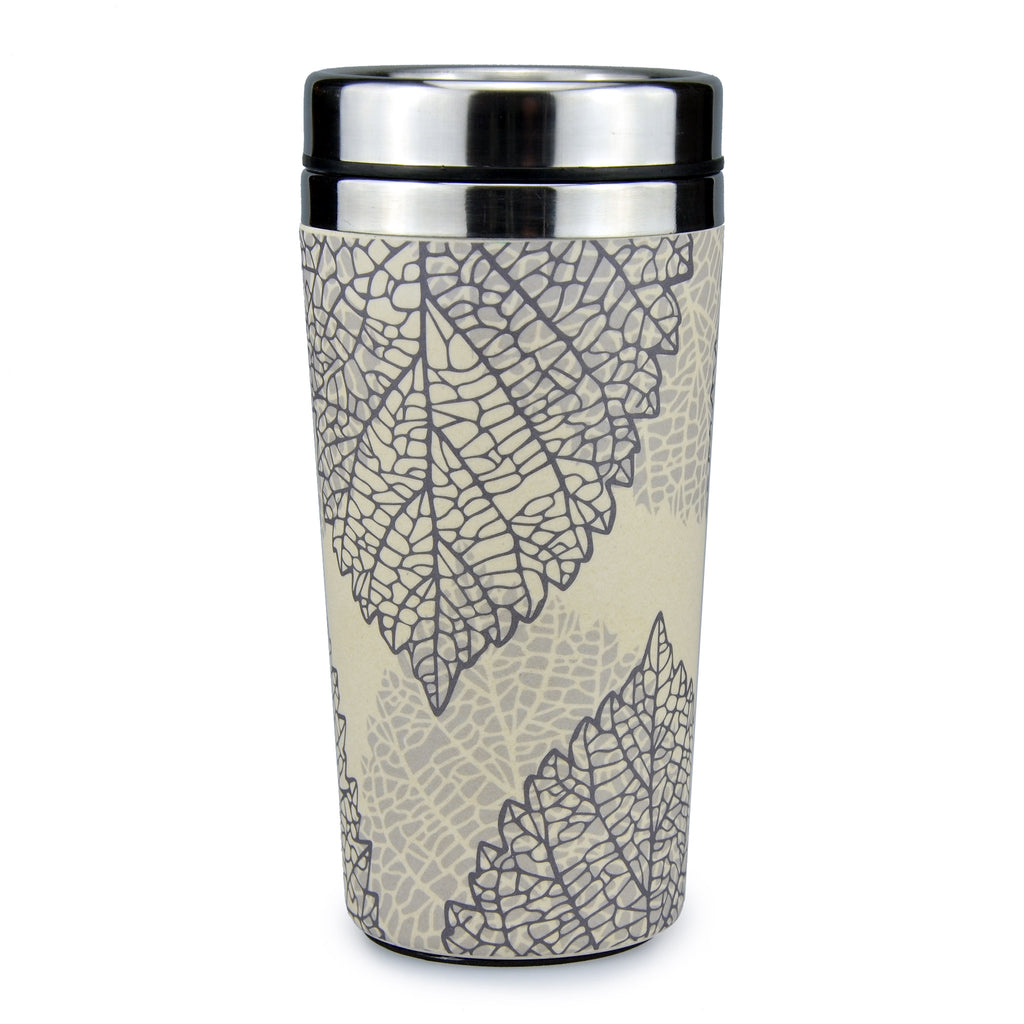 Bamboo Travel Mug | Go Bamboo | Falling Leaves | 450ml