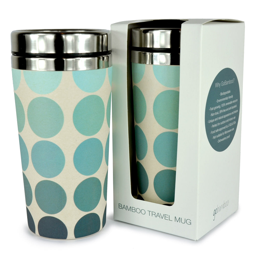 Bamboo Travel Mug | Go Bamboo | Spots n Dots | 450ml
