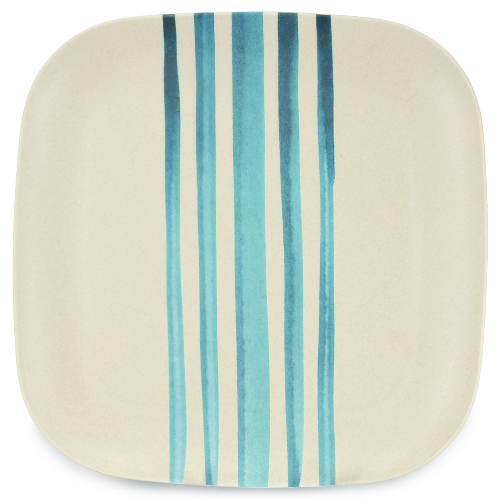 Bamboo Plate | 26cm | Go Bamboo 'Watercolour Stripes'