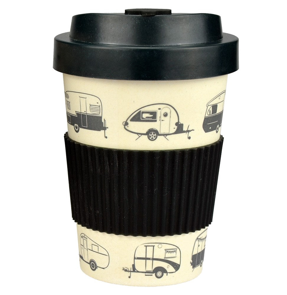 Bamboo Travel Mug | 300ml | Van Go Collections 'Hit the Road' Grey