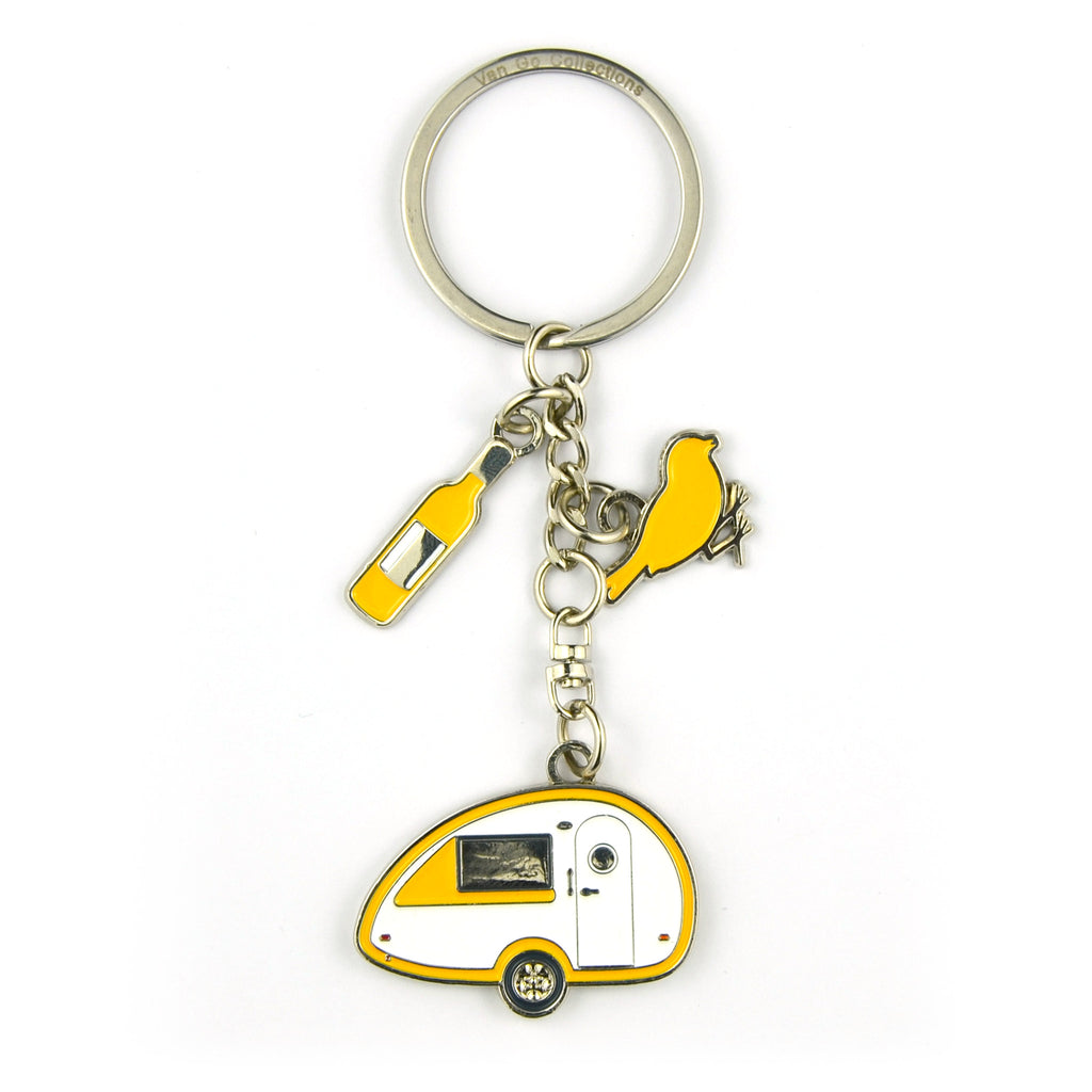 Keyring | Van Go Collections 'Teardrop Caravan' Design