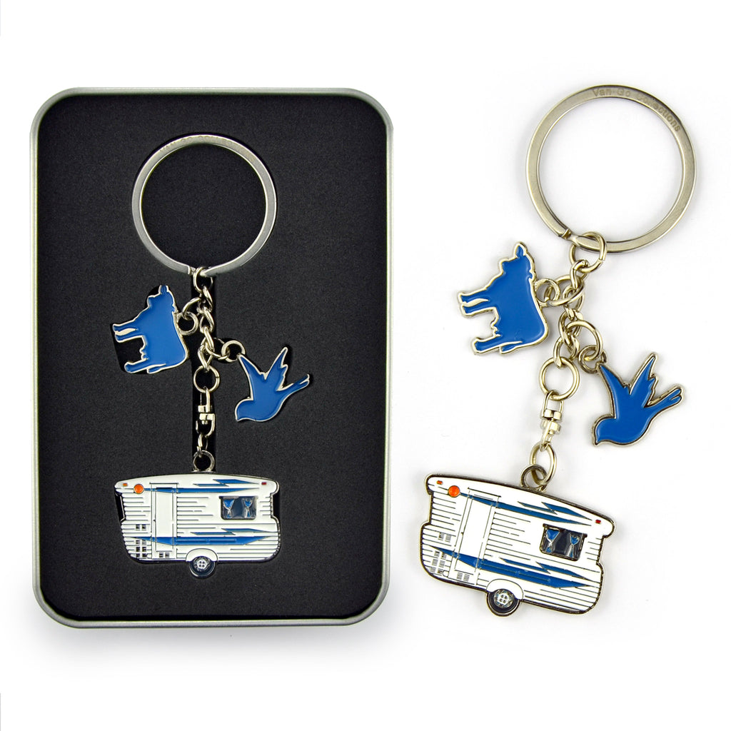 Keyring | Van Go Collections 'Bluey Caravan' Design