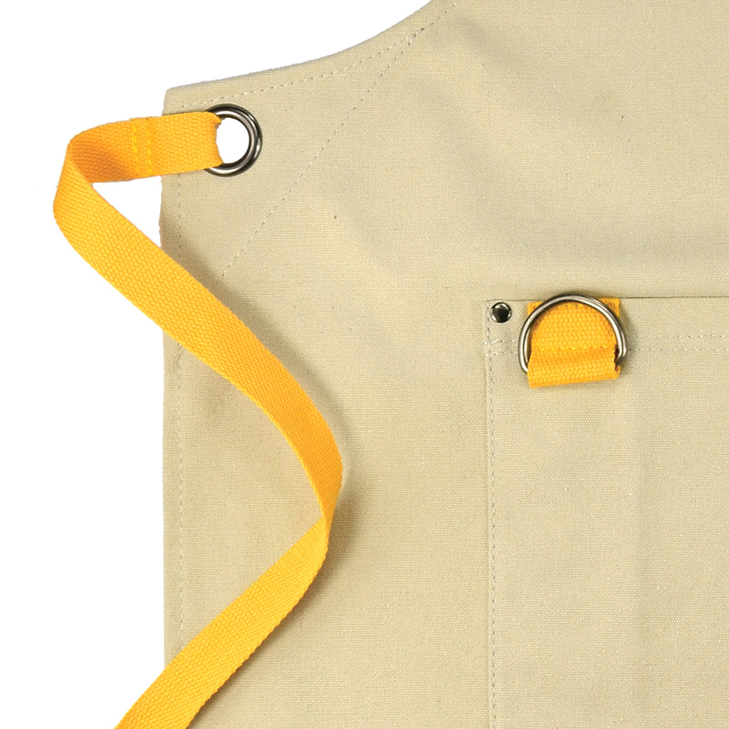 Embroidered Apron | Teardrop Caravan | Autumn Yellow