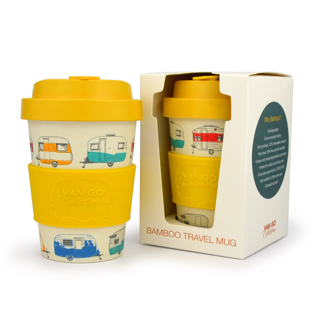 Bamboo Travel Mug | 300ml | Van Go Collections 'Autumn' Yellow