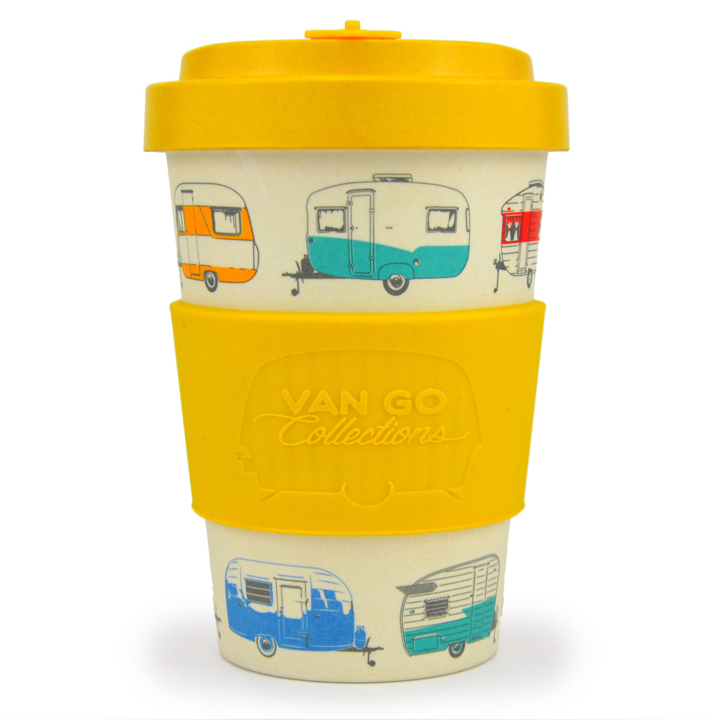 Bamboo Travel Mug | 400ml | Van Go Collections 'Autumn' Yellow