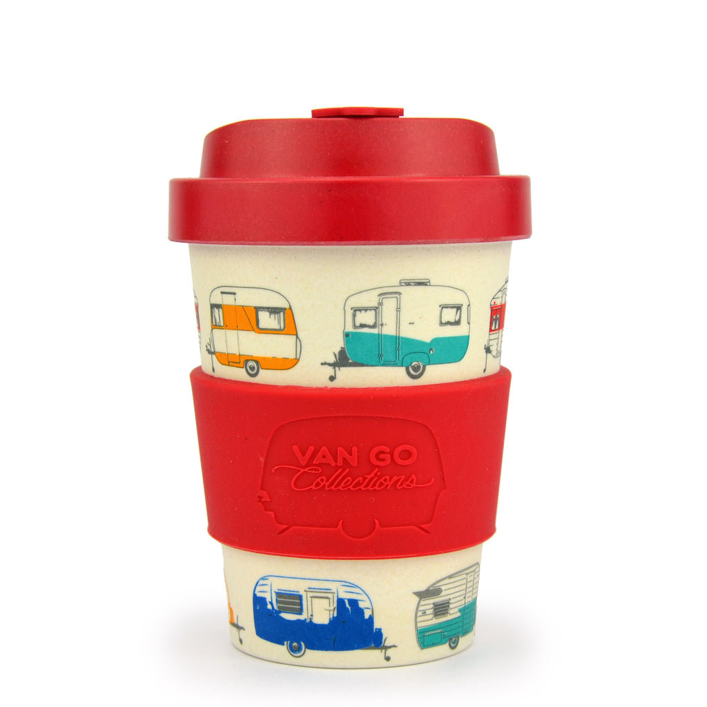Bamboo Travel Mug | 300ml | Van Go Collections 'Spring' Red