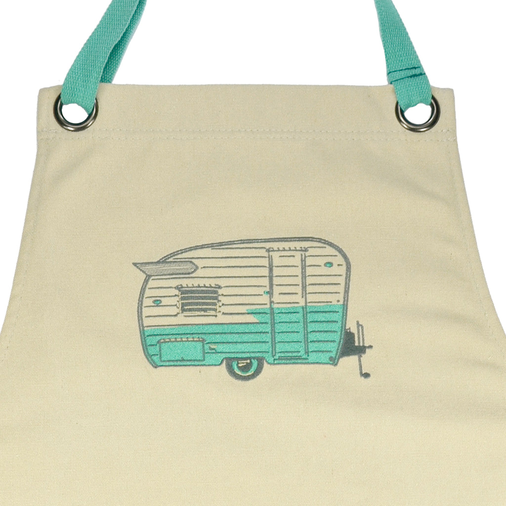 Embroidered Apron | Wing Caravan | Summer Green