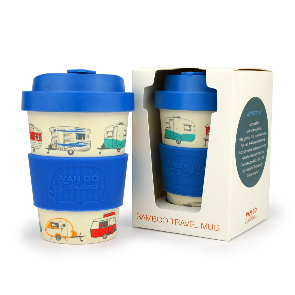 Bamboo Travel Mug | 300ml | Van Go Collections 'Winter' Blue