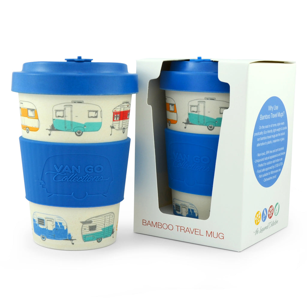 Bamboo Travel Mug | 400ml | Van Go Collections 'Winter' Blue