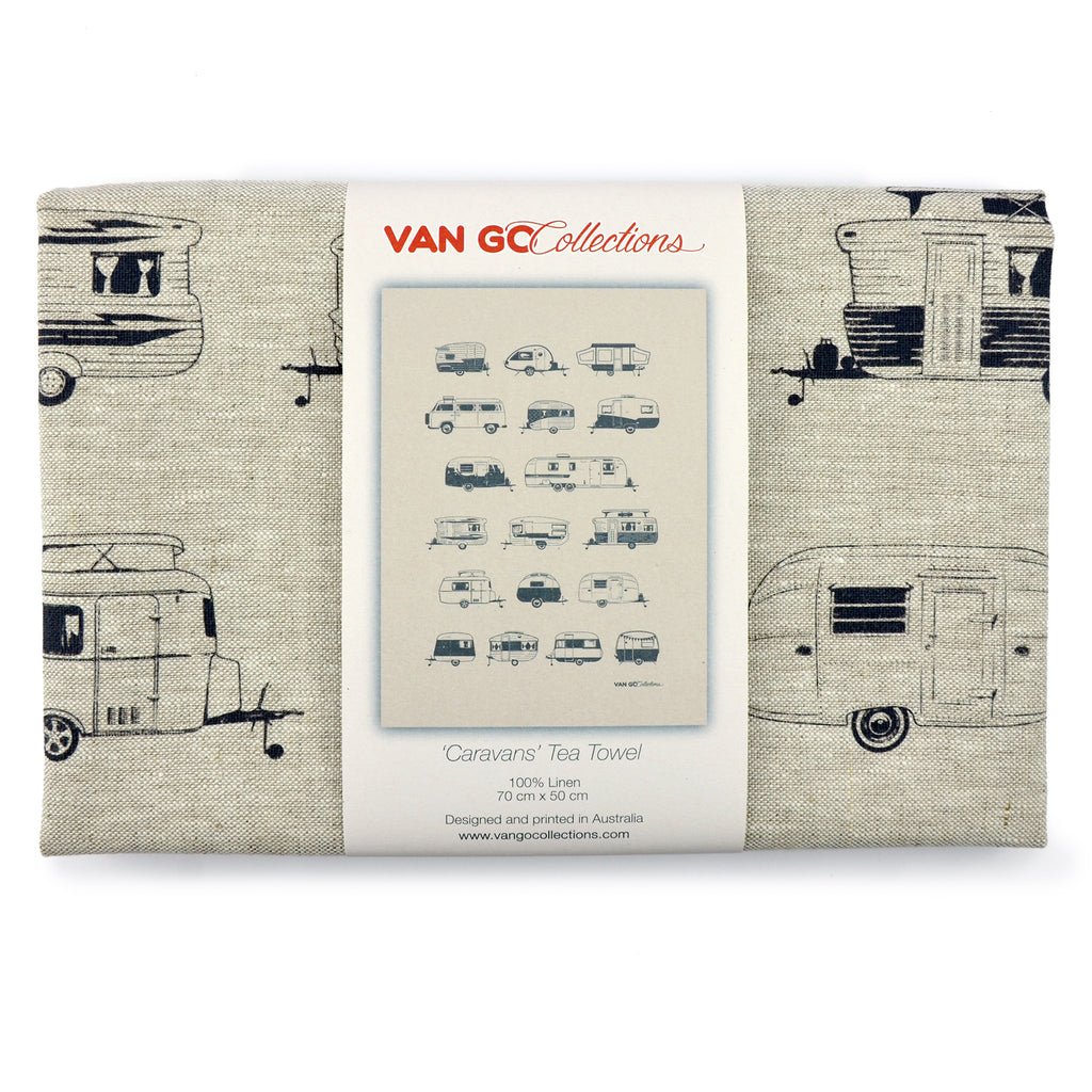 Tea Towel | Destinations Collection | Grey Caravans