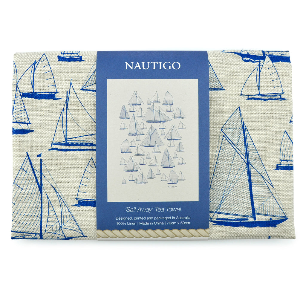 Tea Towel | NautiGo 'Sail Away'