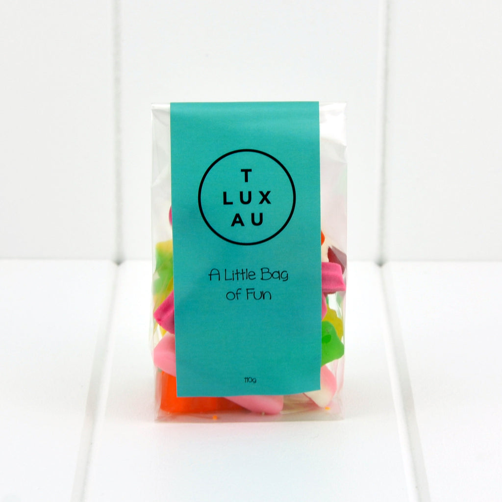 TLUXAU 'Little Bag of Fun' Mixed Lollies 110g