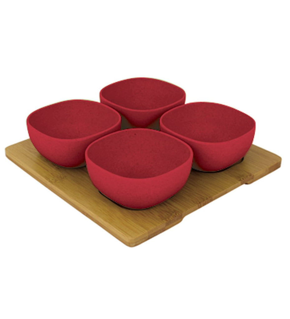 Bamboo Entertainment Platter | Red