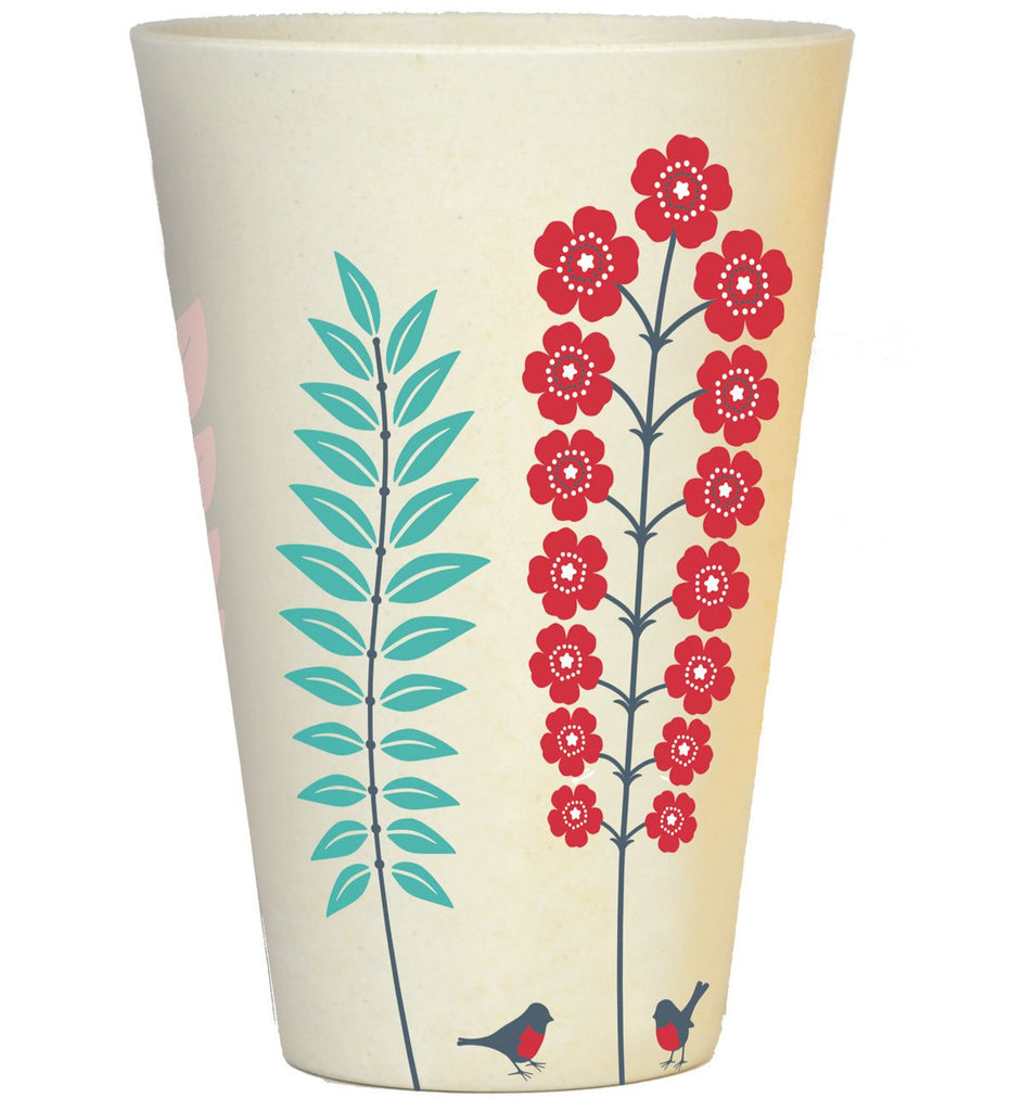Bamboo Tumbler | 400ml | Spring Red