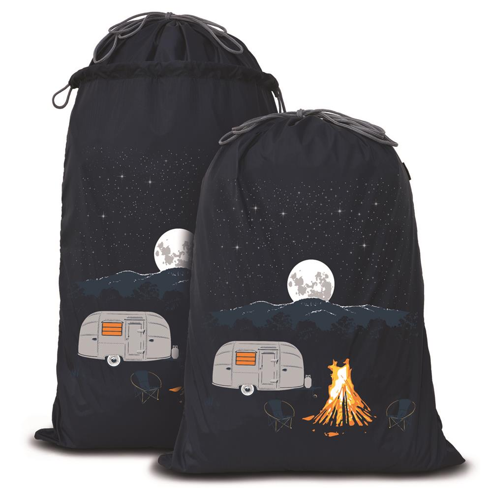 Expandable Laundry Bag | Destinations Collection | Starry Nights Grey