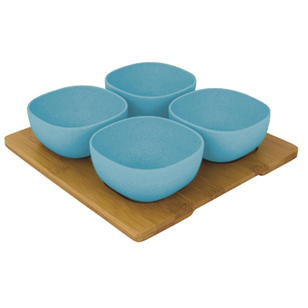 Bamboo Entertainment Platter - Pale Blue