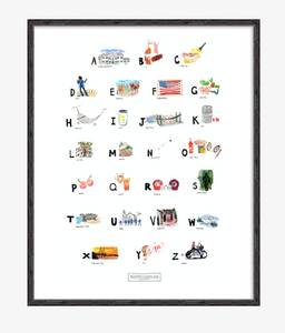 South Carolina ABC Print