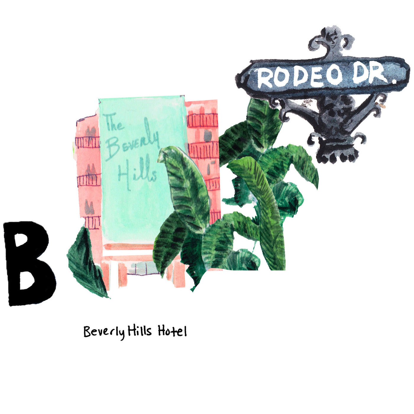 B is for Beverly Hills Hotel. Since its opening in 1912, the Beverly Hills Hotel has been one of the most famous hotels in the world regularly hosting celebrities, actors and well heeled jetsetters.