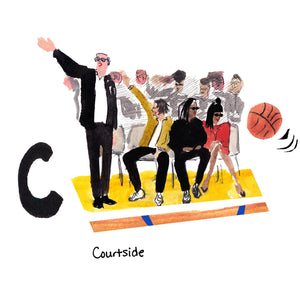 C is for Courtside. Courtside seats at Lakers games are a chic local pastime for Los Angelenos and visitors, frequented by celebrities such as Jack Nicholson, Offset and Cardi B.