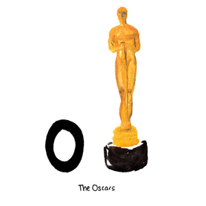 O is for The Oscars. The Academy Awards ceremony happens every February in Los Angeles. Oscars are awarded to the most talented figures behind the top films shown in the previous year.
